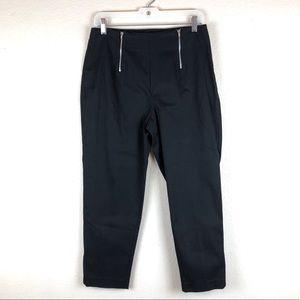 Cache | Black Zip High Waisted Capri Pants